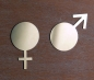 Preview: Door sign set symbol matt - woman + man