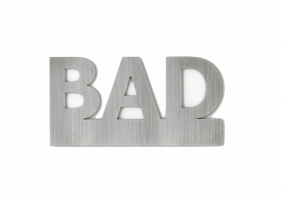 "Door sign ""Bad"""