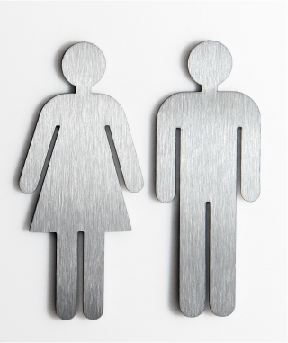 "Door sign set matt ""woman + man"""
