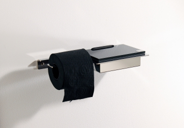 Wet wipe holder and toilet paper holder