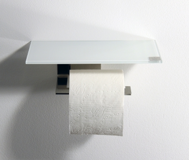 rollenhalter edelstahl glas wei azizumm shop. Black Bedroom Furniture Sets. Home Design Ideas