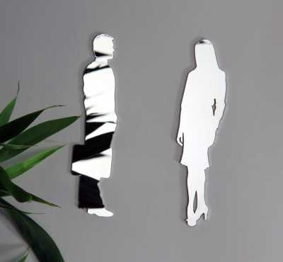 Door Shield Set Shiny - Woman + Man Business