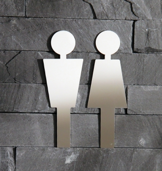 "Door shield set glossy - ""woman + man""  / 2"