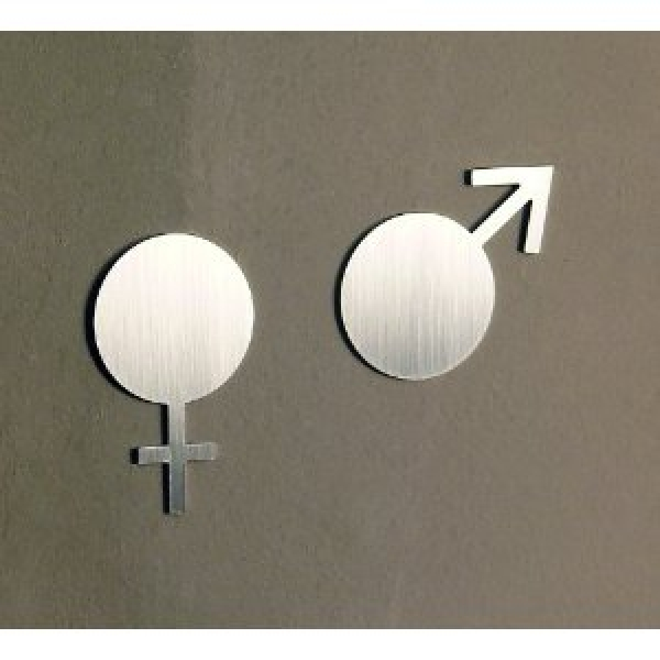 Door sign set symbol matt - woman + man