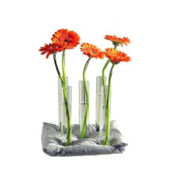 azizumm shop f r modernes design vase 5 gl ser auf betonkissen blumenvase designervase. Black Bedroom Furniture Sets. Home Design Ideas