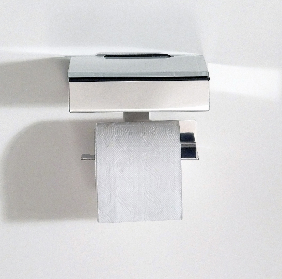 Wet wipes holder and toilet paper holder (W/S)