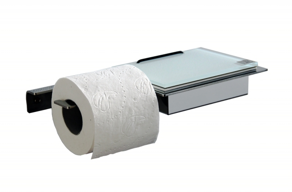 Wet wipe holder and toilet paper holder (W/waag.)